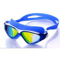 High Performance Swimming Goggles , Eye Goggles For Swimming Blue Color