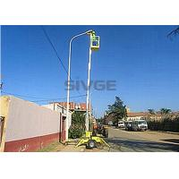 Wholesale Hydraulic Single Mast Aerial Work Platform 8m Height Trailer Type Lift For Ceiling from china suppliers