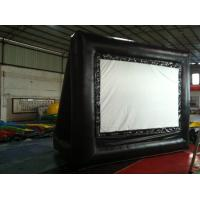 Wholesale Rent Black Outdoor PVC Inflatable Outdoor Movie Screen For Advertising from china suppliers