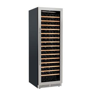 China Professional Supplier Stainless Steel Glass Door Free Standing Wine Cooler 176 Bottles on sale