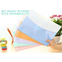 Wholesale Waterproof PVC A4 Plastic Folders , Transparent Sleeves For Documents from china suppliers