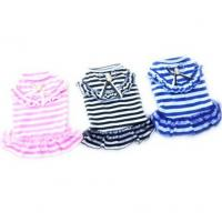Wholesale Dog Cat Puppy Clothes Pet Apparel Striped Princess Bowtie Dress from china suppliers