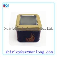 Wholesale Small Size Metal Tea Tin with window from china suppliers