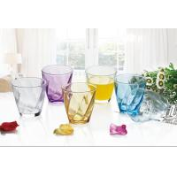 China 6PC Drinking Glass Water Set Colored Gift Packing Stock 260ml Weight 195g on sale