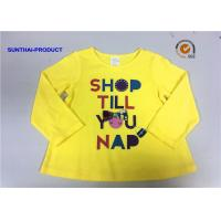 Wholesale Customized Design T-Shirt Screen Print Long Sleeve 100% Cotton Baby Girl T-Shirt from china suppliers