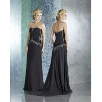 Wholesale Beautiful Strapless Beaded A-Line Chiffon Black Formal Long Dresses For Women from china suppliers