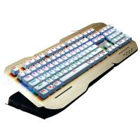Wholesale Rainbow Colorful Ergonomic Gaming Keyboard Multimedia Keys Alumium Alloy Cover from china suppliers