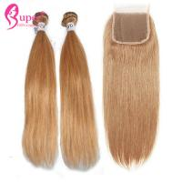 Wholesale 27# Bundle Virgin Human Cuticle Aligned Silky Straight Hair Weft Machine from china suppliers