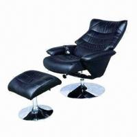 China Electric recliner sofa with massage function and chromed base steel frame on sale
