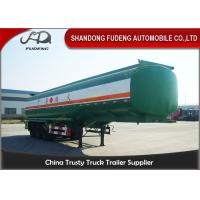 Wholesale 3 Axles Diesel / Petrol Tanker Trailers  , 45000 L Carbon Steel Semi Tanker Trailers from china suppliers