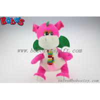 """Quality China Manufacturer Pink Stuffed Dinosaur Animal With Scarf In 10"""" Size for sale"""