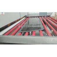 China Automotive Backlites Glass Tempering Furnace / double curvature glass with gravity & pressing moulds on sale