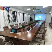 China Pop Up Conference Lcd 1920x1080 Desk With Hidden Monitor Lift on sale