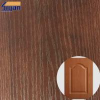 China PVC Furniture Film Texture Decorative PVC Wood Grain Film For Membrane Pressing on sale