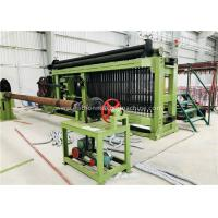 China Fully Automatic Wire Coiling Machine , 100x120mm Gabion Mesh Machine PLC Control Simple Install for sale