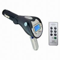 Quality Car MP3 Player/FM Modulator Car Kit, Built-in MP3 Decoder, Supports LCD Display, USB Host, SD/MMC for sale