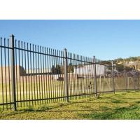 Wholesale Free Standing Metal Palisade Fencing Decorated For Buildings / Courtyard 100x55mm Post from china suppliers