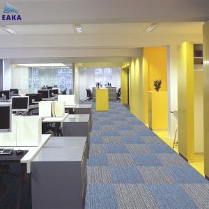 China EAKA Wholesale Factory Price 50x50cm Commercial Polypropylene Pvc Backing Decorative Fireproof Carpet Square on sale