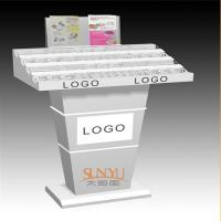 Quality Custom Retail Flooring Display StandsAcrylic Storage Trays For MakeupPrinting Color Logo for sale