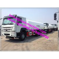Wholesale 25000L ZZ5307M3247P 371HP Sinotruck Howo Liquid Tanker Truck 6x4 in Red / White from china suppliers