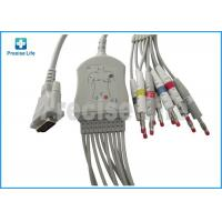 Wholesale Schiller One piece type 10 lead EKG cable with banana 4.0 plug TPU cable for ECG machine from china suppliers