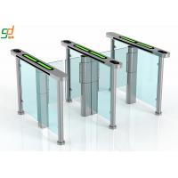 Wholesale Slim Supermarket Swing Gate , Glass Turnstile Ul2593 Standard Servo Motor from china suppliers