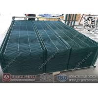 Wholesale 3D Welded Wire Mesh Fence Panels | RAL6005 dark green color | China Metal Fence Supplier from china suppliers