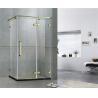 Rectangle Frameless Golden Shower Enclosures 8 / 10 MM Tempered Glass for Home / Hotel for sale