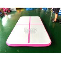 Wholesale DWF PVC Indoor Sport Equipment Air Track Gymnastics Mat , Pink Tumbling Air Track from china suppliers