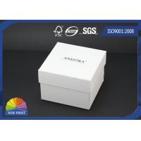 China Custom Logo Printed Paper Jewelry Box / Jewellery Gift Boxes / White Jewelry Packaging Boxes on sale