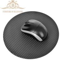 Wholesale Round Shape Carbon Fiber Furniture Fashion Mouse Mat Black Color from china suppliers