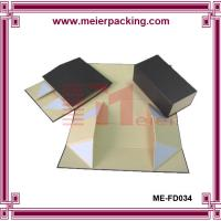 Wholesale Magnetic Rigid Cardboard Black Folding Packaging Box, Flat Pack Jewelry Box ME-FD034 from china suppliers