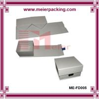Wholesale Leather tie paper box, foldable ivory folding gift box for clothing ME-FD005 from china suppliers