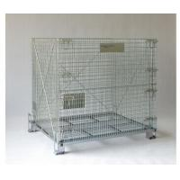 Wholesale Collapsible Wire Mesh Container Rolling Metal Storage Cage With Wheels from china suppliers