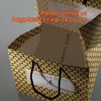 Profession hot stamping printed exquisite hello kitty paper bag with rope handle:600pcs/carton,Carrier Black Paper Bag for sale