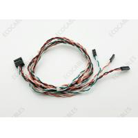 Wholesale Dupont 10 Pin Custom Wire Harness Front Panel Twisted Pair Cable 750mm Length from china suppliers