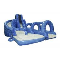 Wholesale Rent Blue Commercial Cool Inflatable Water Slides With 7.5M Height from china suppliers