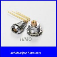 China promotion model 90 degree PCB pin 2 pin lemo panel mount connector solder terminal for sale
