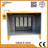 Quality Open Four Filters Powder Painting Booth PLC control Box  Economic Powder Saving for sale