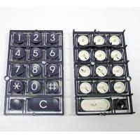 Telephone Keyboard Double Injection Molding Process Parts Black And White for sale