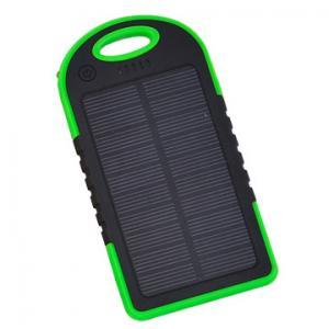 China Green Solar Power Battery Bank 4000mAh Portable Dual USB Emergency Backup Charger on sale