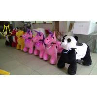China Hansel children rides for sale mall ride on toys plush electric animal scooters on sale