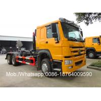 Wholesale Sinotruk Howo 15 / 16 / 17 Cubic Meters Hook Bin Lifter / Waste Management Garbage Truck from china suppliers