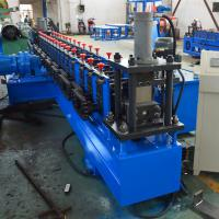 China Plc Control Slotted Strut Channel Roll Forming Machine With Gear Box on sale