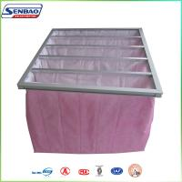 Wholesale AHU System Pink Synthetic Fiber F7 Pockets Bag Air Filter Medium Efficiency from china suppliers