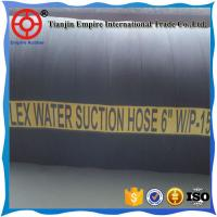 Wholesale 5'' inch 30 meter long WP 10 bar black air and water suction and discharge rubber hose from china suppliers
