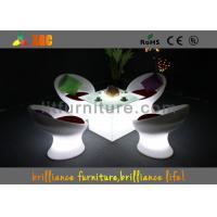 Wholesale Wireless Remote Control LED Coffee Tables / bar table with glass top from china suppliers