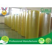 Quality High Strength Acrylic Glue Plastic Film Roll , Bopp Jumbo Tape For Carton Package for sale