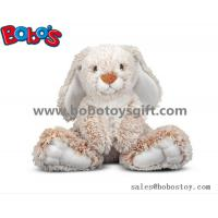 Wholesale 25cm Baby Plush Sitting Rabbit Animal Toy with Long Ears and Big Feet from china suppliers