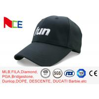Wholesale FUN 6 Panels Mens Sports Hats , Relaxed Black Cool Sports Fitted Caps from china suppliers